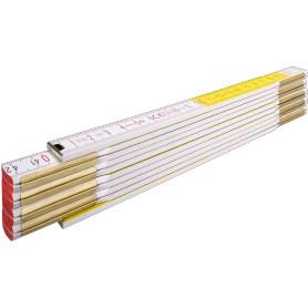 Mètre pliant  617 Blanc/jaune    2m