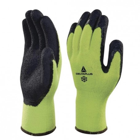 Gants acryl/coton  Latex jaune
